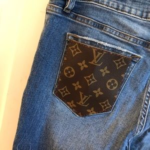 One of a kind Vigoss x Louis Vuitton jeans